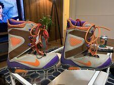 New listing Nike Kaiju Snowboard Boots Grey Orange Purple RARE Mens 12