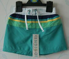 M&S  INDIGO COLLECTION BOYS STRIPE SWIMSHORTS AGES 1-1.5, 1.5 -2 & 2-3 YRS