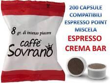 200 cialde capsule caffè sovran CREMA e AROMA compatibili lavazza espresso point