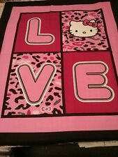 """Springs Licensed Cotton PANEL - HELLO KITTY  LOVE Panel  Cotton Fabric 36"""""""