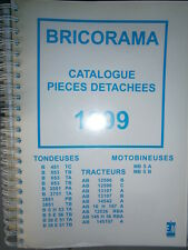 BRICORAMA tracteur - tondeuse - motobineuse : catalogue pièces 1999