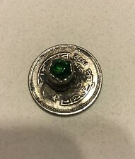 Vintage Metal Glass Jewel Buttons Pakistani Paisa Coin