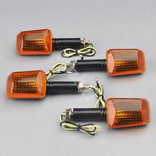 4x Orange Lens Motorcycle ATV Bike Turn Signal Indicators Light Bulb Amber 12V