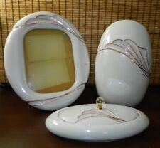 Vintage Carpie Set Of 3 Frame Vase & trinket box