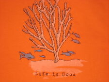 LIFE IS GOOD WOMEN'S S/S ENGRAVED CORAL  CRUSHER  VEE T-SHIRT SIZE XXL