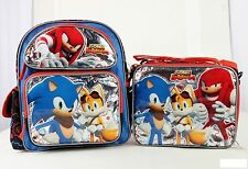 """Sonic the Hedgehog Team 12"""" inches Small Backpack & Lunch Box Licensed - Boom"""