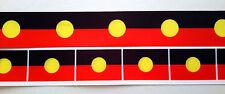 Aboriginal Koori Flag Colours 32mm printed grosgrain ribbon