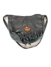 Harley-Davidson Black Leather Fringe Hand/Shoulder  Purse Bag EUC