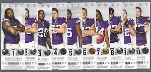 2014 NFL MINNESOTA VIKINGS FULL UNUSED FOOTBALL TICKETS - ENTIRE HOME SEASON