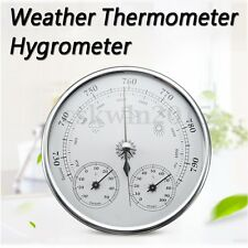 130mm 960~1060hPa Wall Hanging Weather Thermometer Hygrometer Barometer -30~50℃