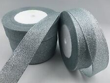 "New 5yards 1 ""25mm glitter ribbons Bling for Diy Wreaths decorated and Bows #"