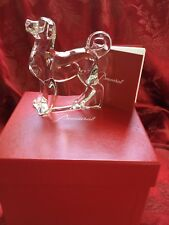 NEW NIB FLAWLESS Exceptional France BACCARAT Crystal AKITA HUSKY DOG Figurine