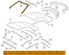 TOYOTA OEM 04-08 Solara Convertible/soft Top-Front Weatherstrip Seal 6325106040