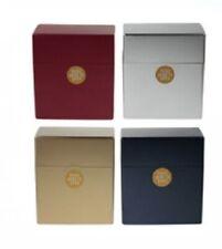 2 x Metallic Colour Auto Open Plastic Cigarette Case fits 50 cigs tobacco