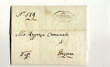 1807 VENETO Napoleon.lettera VERONA-GREZZANA:lavoro OBBLIGATORIO OPERAI ARM-h535