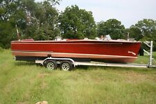 1940 Wood Chris Craft 25 foot Sportsman, aluminum trailer,  Chris Craft W engine