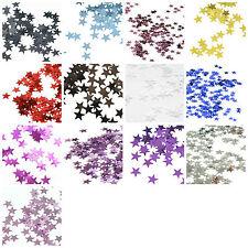 BUY 3 GET 1 FREE OFFER Christmas Table Confetti Metallic Foil 5mm Star Sprinkles