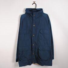 Vintage Woolrich Mountain Parka Jacket Navy Blue Windbreaker XL Made in USA