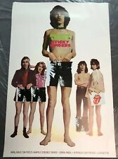 Rolling Stones Sticky Fingers Promotional Album Poster 1971 Never Folded