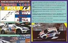 ANEXO DECAL 1/43 VOLKSWAGEN POLO R WRC J-M. LATVALA R.AUSTRALIA 2014 2nd (01)