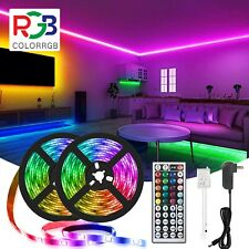 50ft LED Strip Lights 5050 RGB Color Changing Remote for Rooms Party Bar Cabinet