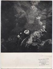 PHOTO ANCIENNE DE PRESSE Plongée sous marine Plongeur Aventure Maurizio Sarra