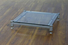 Beautiful VTI BLG404SSW-01 Audio Clear Glass Amp Stand, Brand NEW