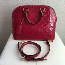 9/10 CONDITION! Louis Vuitton Alma Vernis PM Indian Rose Pink WITH Strap DUSTBAG