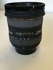 Sigma EX 10-20mm D 1:4-5.6 DC Wideangle Autofocus Lens For Nikon DSLR