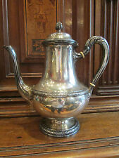 antica caffettiera argento massiccio punzone minerve puiforcat stile Luigi XVI