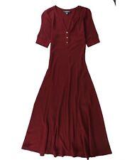 Ralph Lauren Womens Henley Maxi Dress, Red, Small