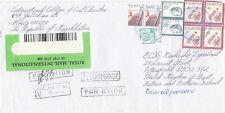 Kazakhstan, 2002, Cover, oversize, registered, to UK