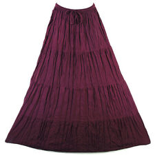 Bohemian Tier Long Skirt Boho Hippy Hippie Gypsy Purple XS-XL sk167v1