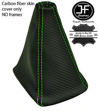 GREEN STITCH CARBON VINYL GEAR GAITER FITS MITSUBISHI LANCER EVO X 2007-2014