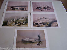 NICE SET OF 5 BEAUTIFUL LITHOGRAPHS OF PLACES IN THE HASHEMITE KINGDOM OF JORDAN