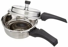 Prestige Deluxe Alpha Outer Lid Stainless Steel Pressure Cooker, 2 Litres, Silv