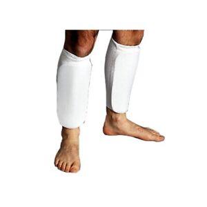ProForce Cloth Sparring Shin Guards Karate Taekwondo TKD Child Youth Adult White
