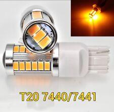 T20 7440 7441 12V 33SMD Amber LED Light Reverse Backup M1 For Acura Honda MAR