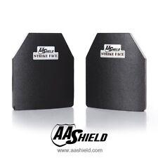 AA Shield Ballistic Light Body Armor Insert Hard Plate Lvl III 3 10x12 Cut Pair