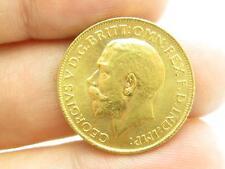 1912 British Gold Sovereign King Georgivs V D G Britt Omn Rex F D Ind Imp Coin