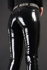latex Rubber Black Fashion Handsome Tight Pants Tailored Trousers Size XXS-XXL