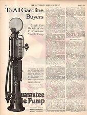 1922 Fry Gas Pump Original ad