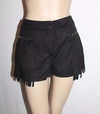 VERA & LUCY Brand Black Faux Suede Fringe Shorts Size M/L BNWT #SC120