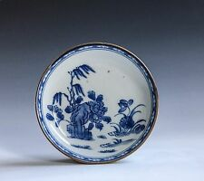 An Antique Chinese Export Blue & White Cafe Rimmed Porcelain Dish