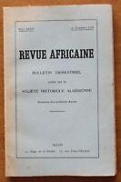 1933 - Revue Africaine - Société Historique Algérienne - 4è trimestre