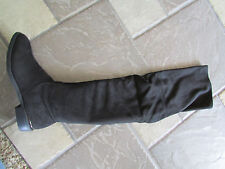NEW VERA WANG PINSON OVER THE KNEE BLACK BOOTS, STRETCH WOMENS 6