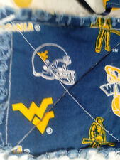 NCAA WEST VIRGINIA MOUNTAINEERS RAGGEDY SECURITY BLANKET WITH PACIFIER
