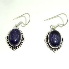 NATURAL PURPLE SUNSTONE GEMSTONE FINE EARRINGS 9.5 GRAMS