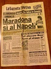 LA GAZZETTA DELLO SPORT 27/5/1984 MARADONA, SI AL NAPOLI