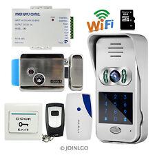 Wireless Wifi IR Code Keypad Video Intercom Door Phone Doorbell + E-lock